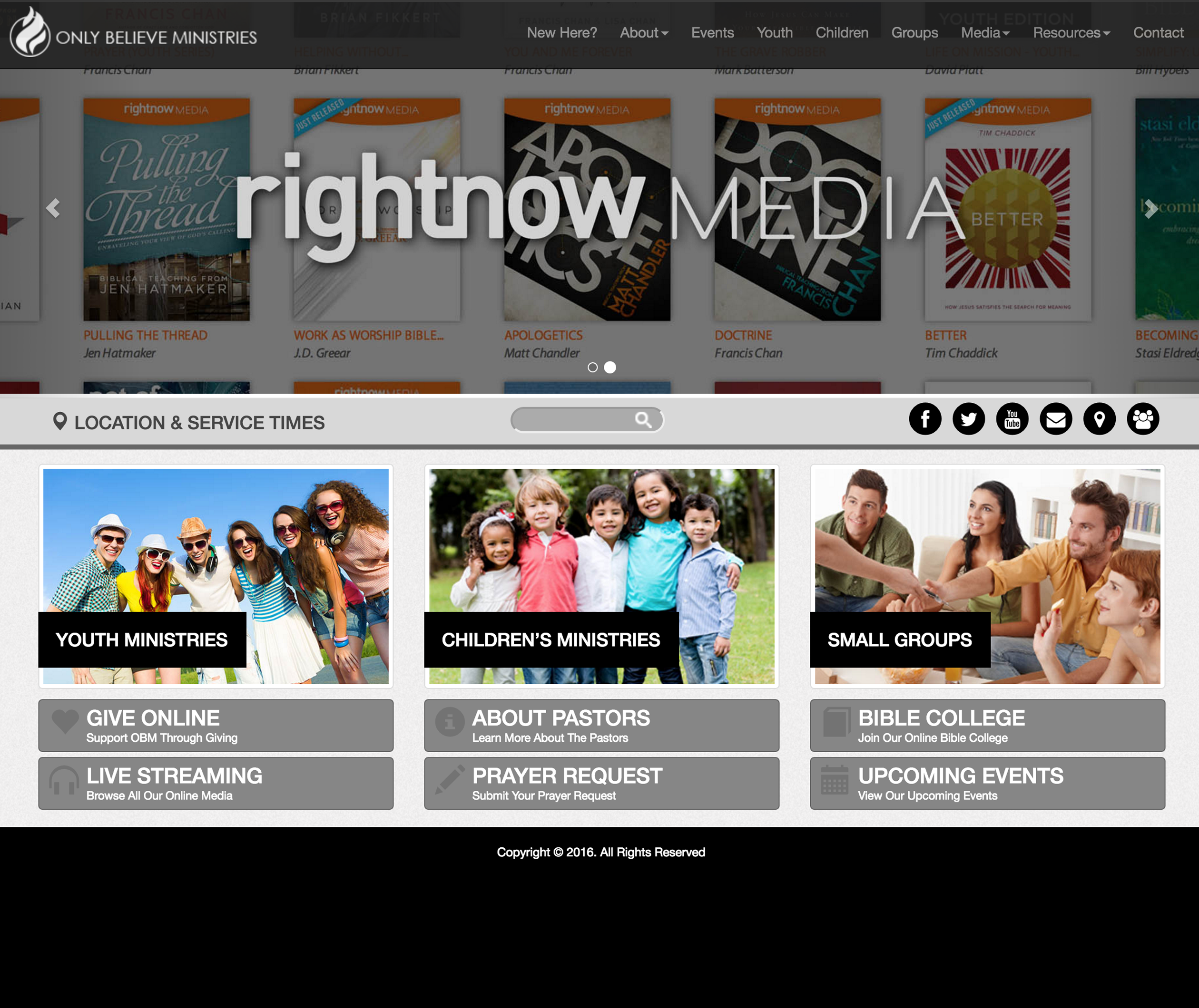 Only believe Ministries Website